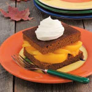 Peach-Filled Gingerbread Recipe