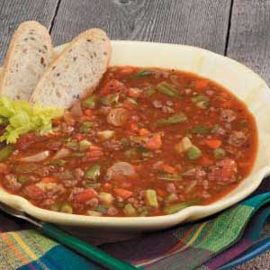Family vegetable Beef Soup Recipe Taste of Home