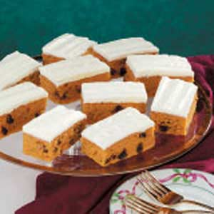 Raisin Pumpkin Bars Recipe