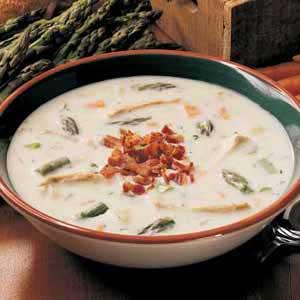 Asparagus Chicken Chowder Recipe