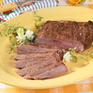 Peppered Flank Steak Recipe