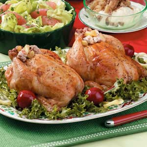 Holiday Game Hens Recipe