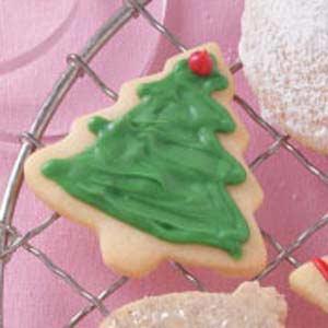 Christmas Cutouts with White Chocolate Glaze Recipe