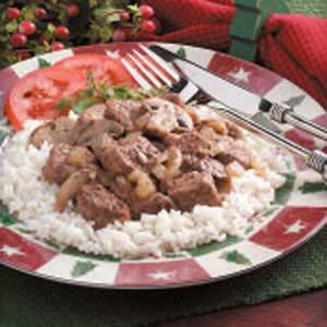 Mushroom Beef Skillet for Two Recipe