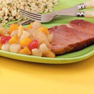 Ham with Mixed Fruit Recipe