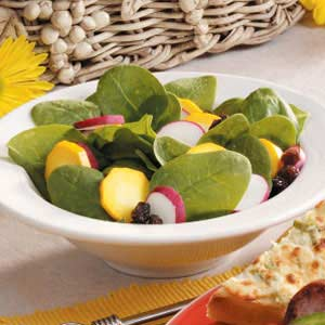 Colorful Spinach Salad Recipe