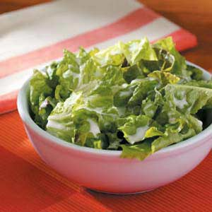 Lettuce with Buttermilk Dressing for 2 Recipe