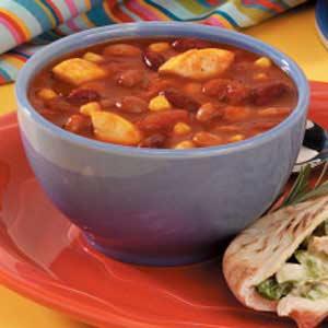 30-Minute Three-Bean Chili Recipe