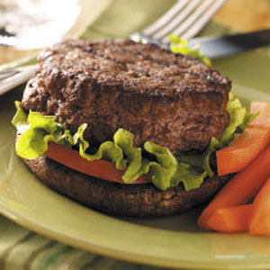 Stuffed Burgers on Portobellos Recipe