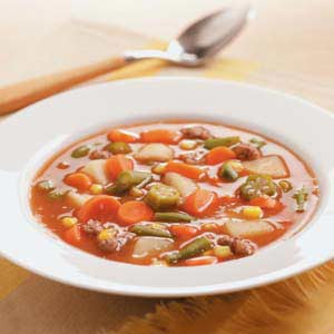 Vegetable Ground Beef Soup Recipe