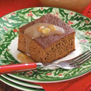 Gingerbread With Raisin Sauce Recipe