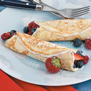 Fruit 'n' Cream Crepes Recipe