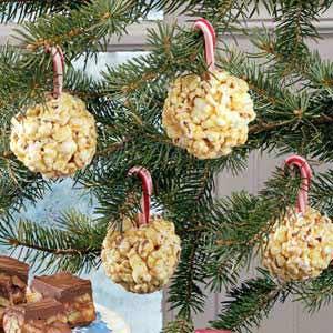 Candy Cane Popcorn Balls Recipe