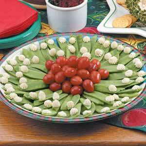 Snow Pea Holiday Wreath Recipe