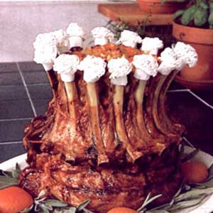 Pork Crown Roast With Apricot Apple Stuffing Recipe