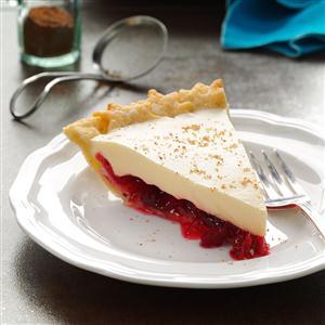 Eggnog Cranberry Pie Recipe