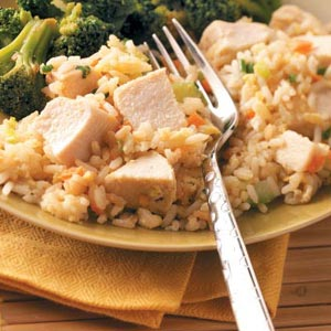 Quick Chicken Fried Rice for Four Recipe