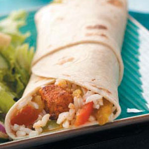 Chicken Veggie Wraps Recipe