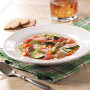 Turkey Meatball and Vegetable Soup Recipe