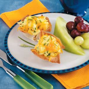 Scrambled Egg Cups for Two Recipe