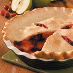 Cran-Apple Raisin Pie Recipe