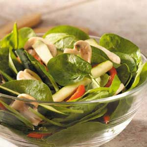 Roasted Pepper Spinach Salad Recipe