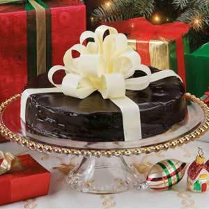 Gift-Wrapped Chocolate Cake Recipe