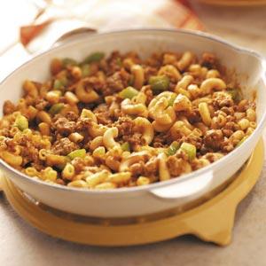 Beef Macaroni Skillet Recipe