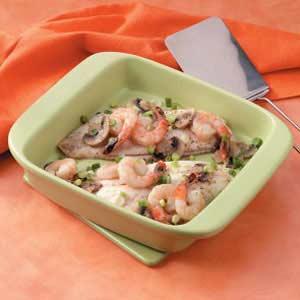 Shrimp-Topped Red Snapper Recipe