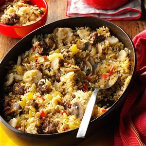 Sausage and Rice Casserole Side Dish Recipe