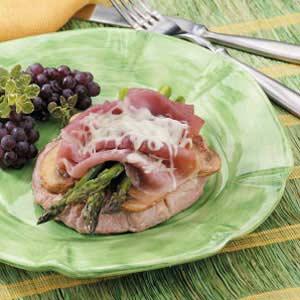 Asparagus Veal Cordon Bleu Recipe