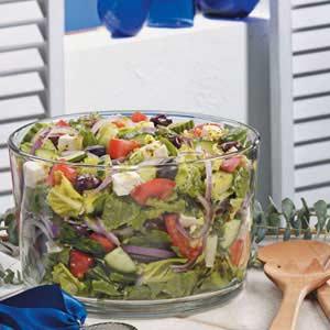 Greek Lettuce Salad Recipe