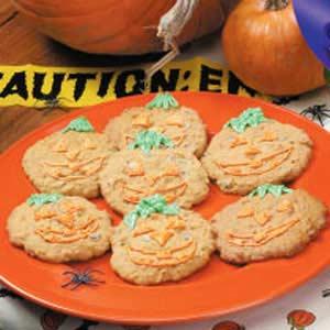 Jumbo Jack-o'-Lantern Cookies Recipe