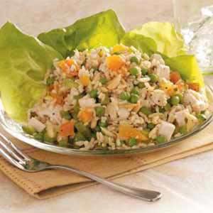 Apricot Chicken Rice Salad Recipe