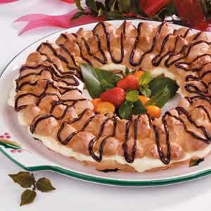 Almond-Cream Puff Ring Recipe