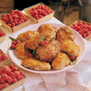 Raspberry Vinegar Pork Chops Recipe
