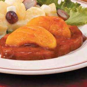 Barbecued Ham 'n' Peaches Recipe