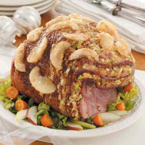 Waldorf Stuffed Ham Recipe