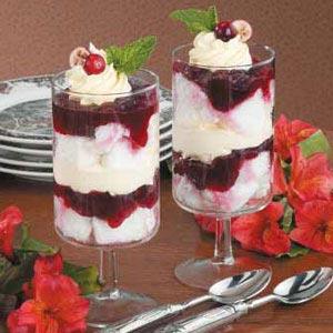 Individual Cranberry Trifles Recipe