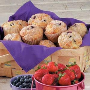 Crumb-Topped Blueberry Muffins Recipe