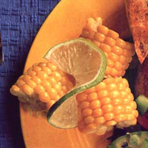 Corn Wheels with Lime Butter Recipe