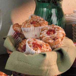 Glazed Raspberry Streusel Muffins Recipe