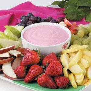Raspberry Fruit Dip Recipe