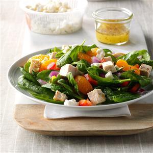 Orange Chicken Spinach Salad Recipe