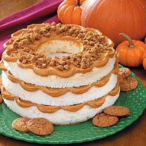Pumpkin Layered Angel Cake Recipe