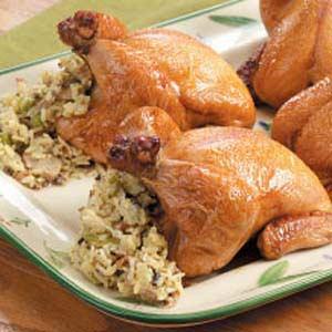 Tender Stuffed Cornish Hens Recipe