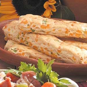 Cheesy Onion Breadsticks Recipe