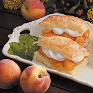 Peach-Filled Pastries Recipe