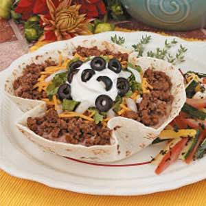 Taco Salad with Baked Shells Recipe