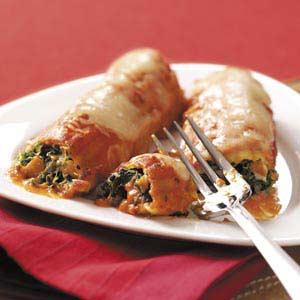 Chicken Spinach Manicotti Recipe